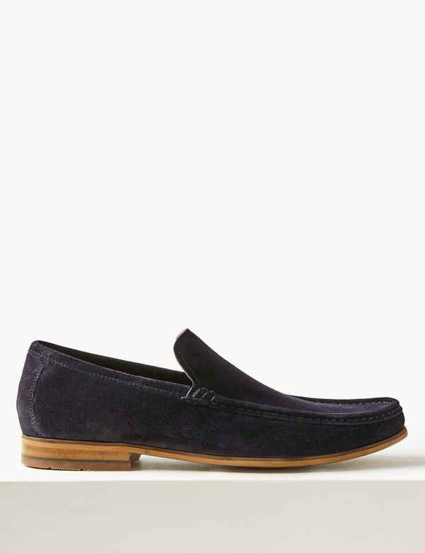 60f6d8af7b9 Wide Fit Suede Slip-on Loafers