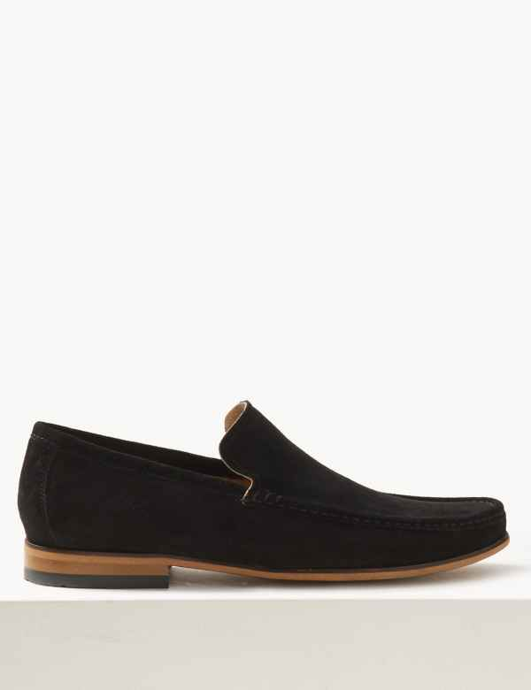 211f2703fc605 Suede Slip-on Loafers