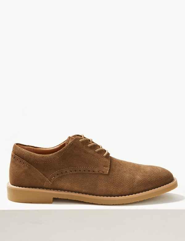 b25e7d66a1 Suede Lace-up Derby Shoes