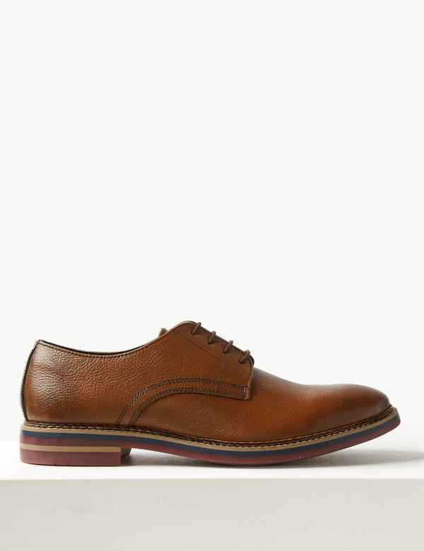 eacb5d28351b Leather Lace-up Derby Shoes