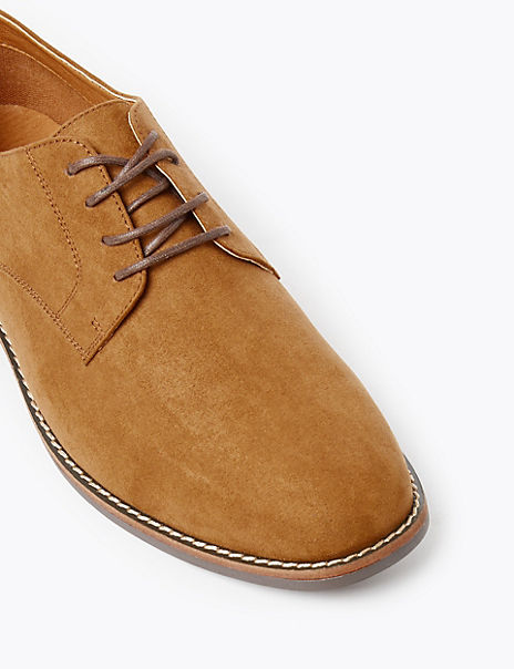 Wide Fit Lace-up Derby Shoes