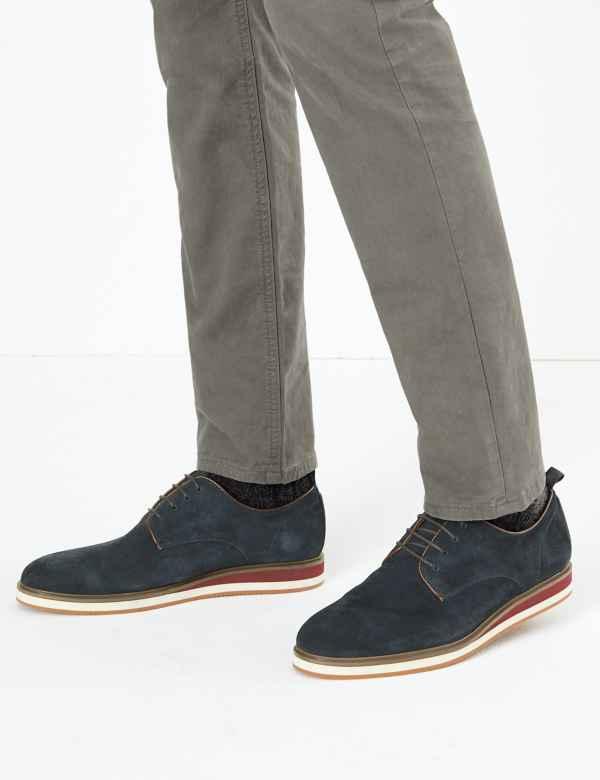 clp60383187: Suede Lace-up Derby Shoes