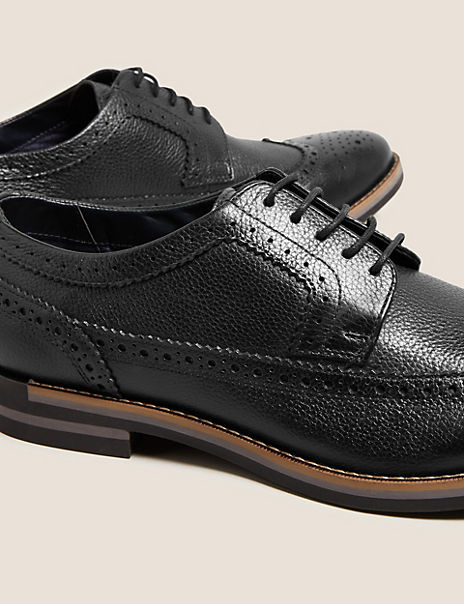 Leather Lace-up Trisole Brogues