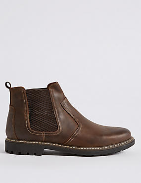 Leather Chelsea Slip-on Boots