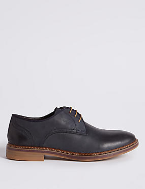 Suede Trisole Nubuck Lace-up Gibson Shoes