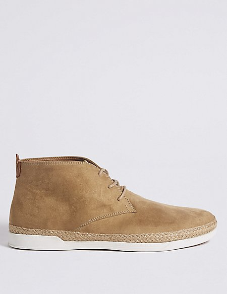Faux Suede Lace-up Chukka Boots