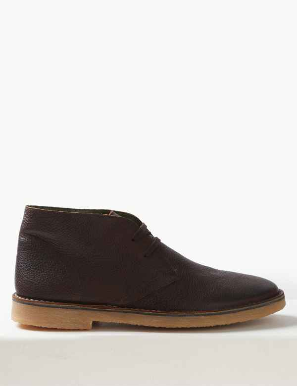 c691149d4e6 Leather Lace-up Desert Boots