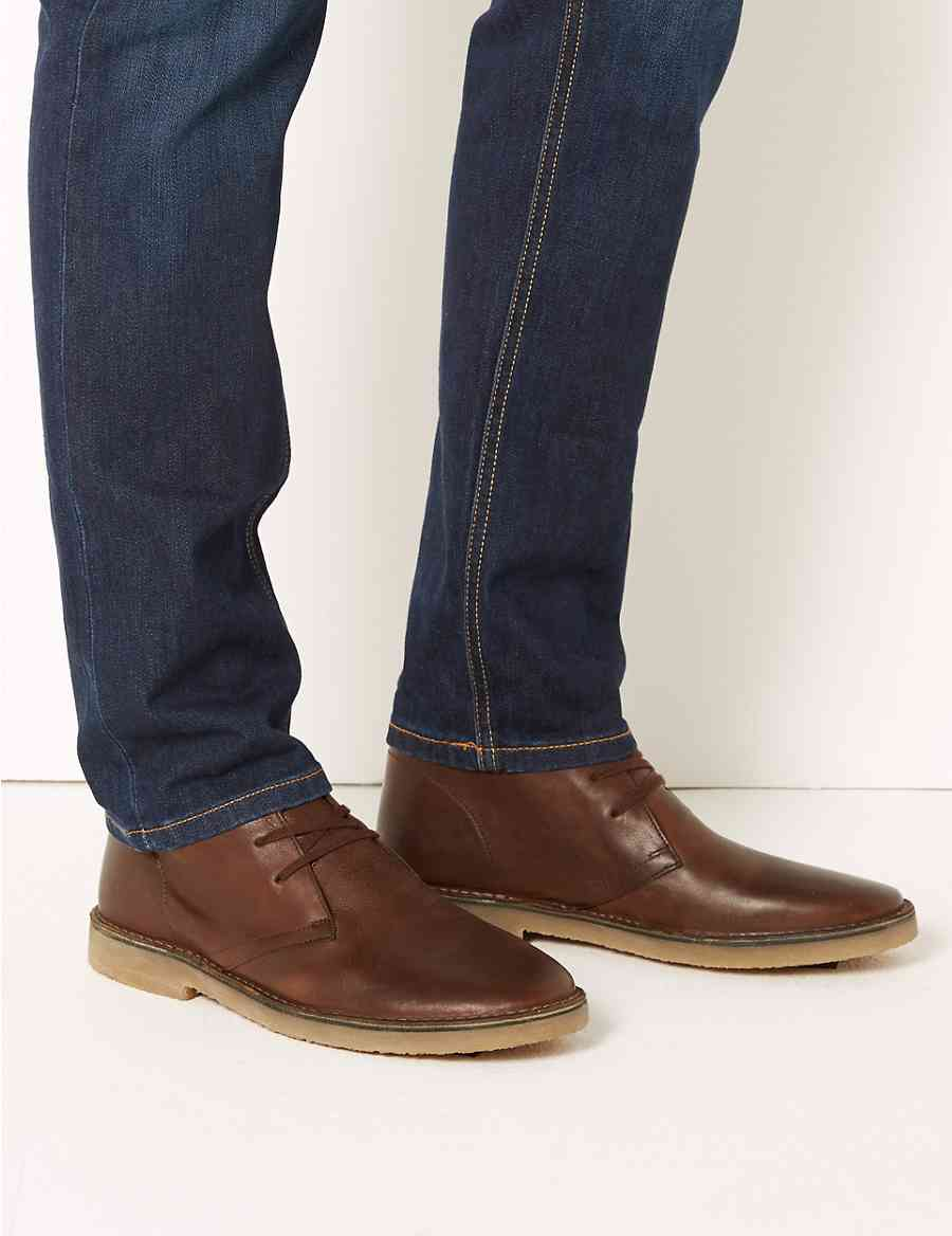 212f1c253bf4b Leather Lace-up Desert Boots