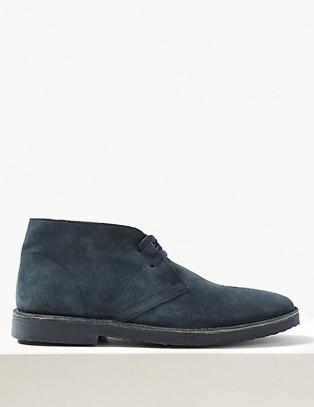 Suede Lace-up Desert Boots