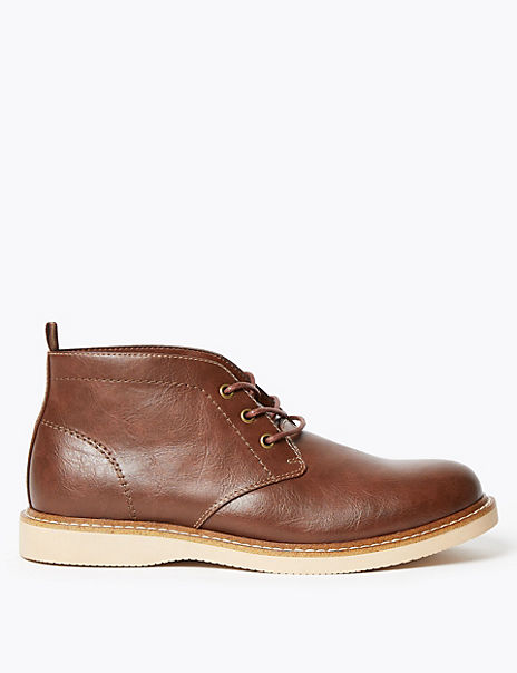 Lace-up Chukka Boots