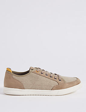 Canvas Lace-up Trainers