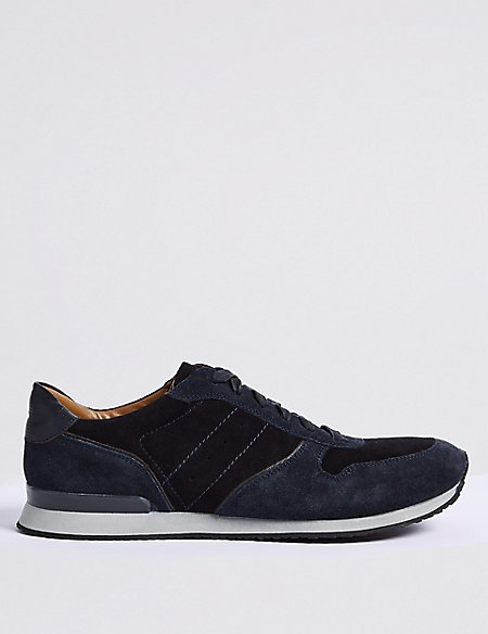 Suede Lace-up Casual Trainers