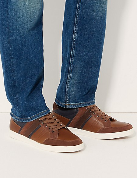 Lace-up Casual Trainers with Freshfeet™