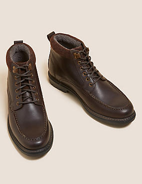 Leather Waterproof Casual Boots