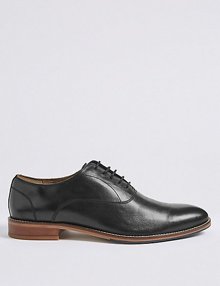 Leather Layered Derby Shoes