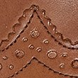 Leather Almond Toe Brogue Shoes, CHESTNUT, swatch
