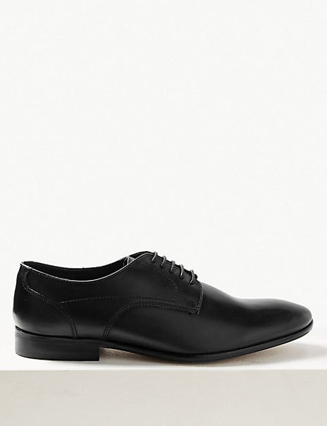 Big & Tall Leather Lace-up Derby Shoes