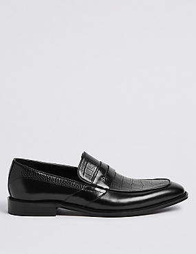 Leather Slip-on Loafers