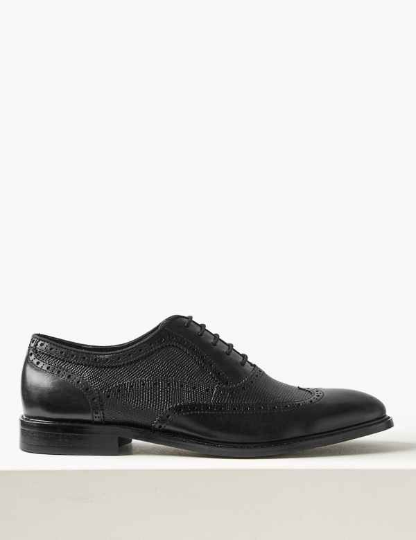 76f843c9422 Leather Brogue Shoes