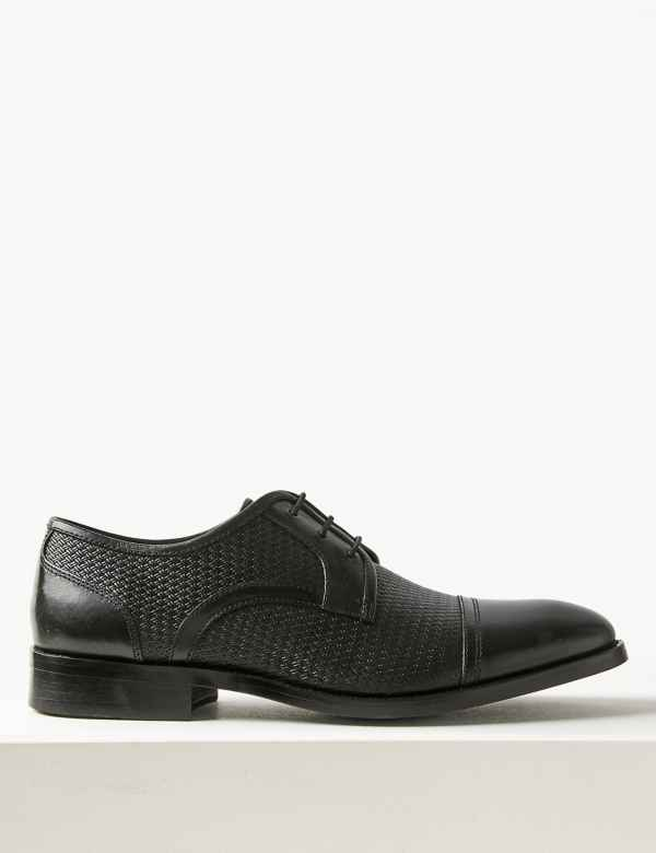 a065bcee326bd7 Leather Lace-up Derby Shoes