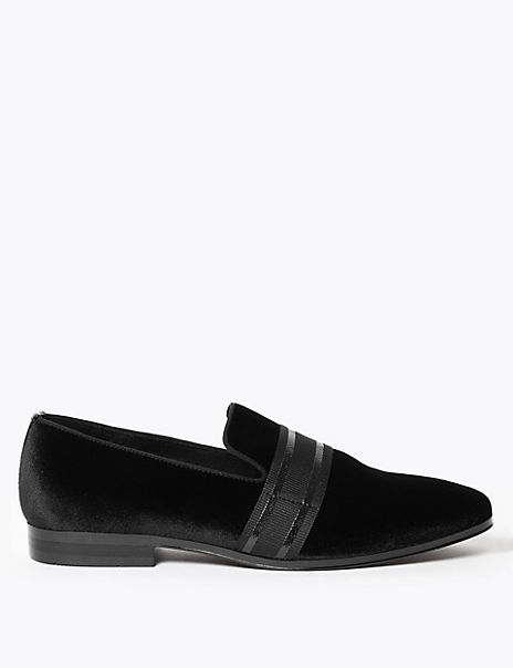 Suedette Patent Ribbon Loafers