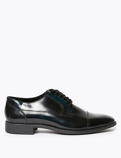 Leather Toecap Derby Shoes