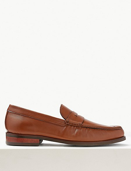 Leather Penny Slip-on Loafers