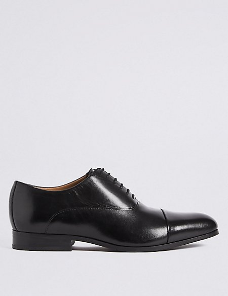 Sale 2018 Unisex Marks and Spencer Big & Tall Extra Wide Fit Leather Shoes black Cheap Sale Visa Payment yBvWfH