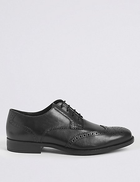 Big & Tall Leather Gibson Brogue Shoes