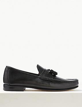 Leather Slip-on Tassel Loafers