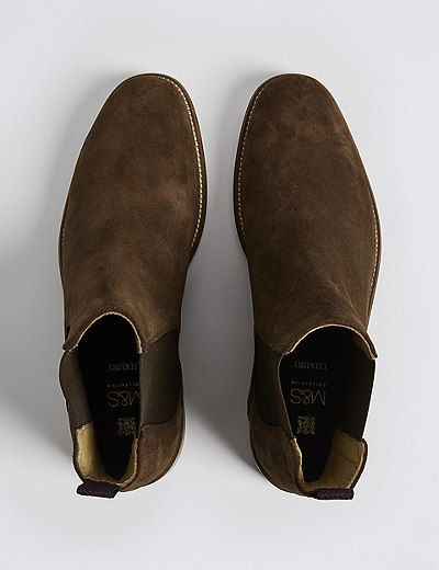 5d03bf6b12a Big & Tall Suede Chelsea Boots