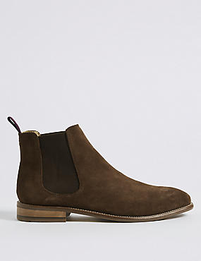 Extra Wide Fit Suede Chelsea Boots