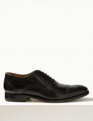 Leather Brogue Shoes M Amp S Collection Luxury M Amp S