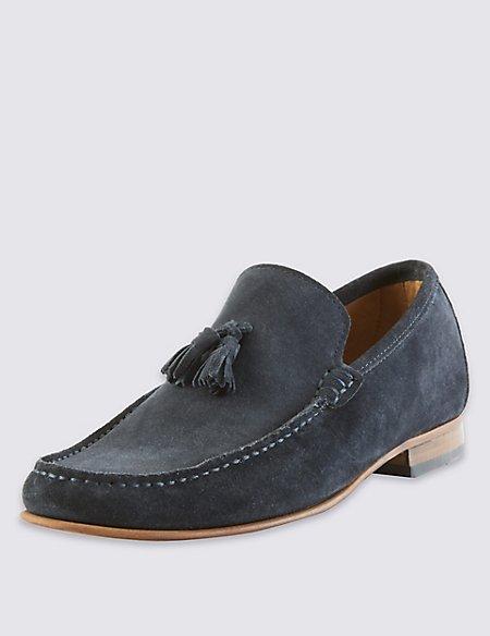 Suede Tassel Slip-on Loafers
