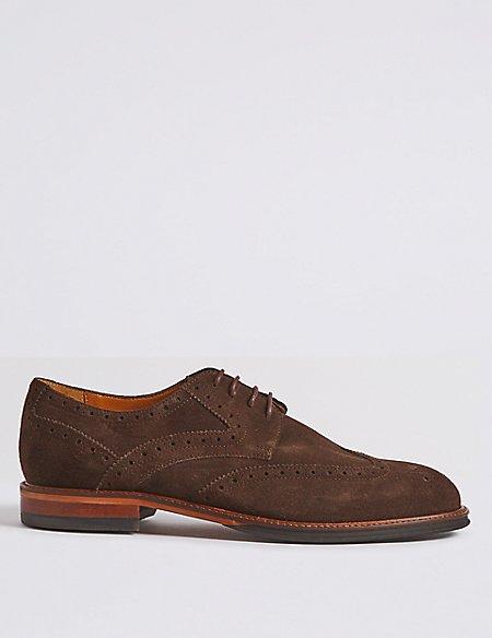 Suede Brogue Shoes