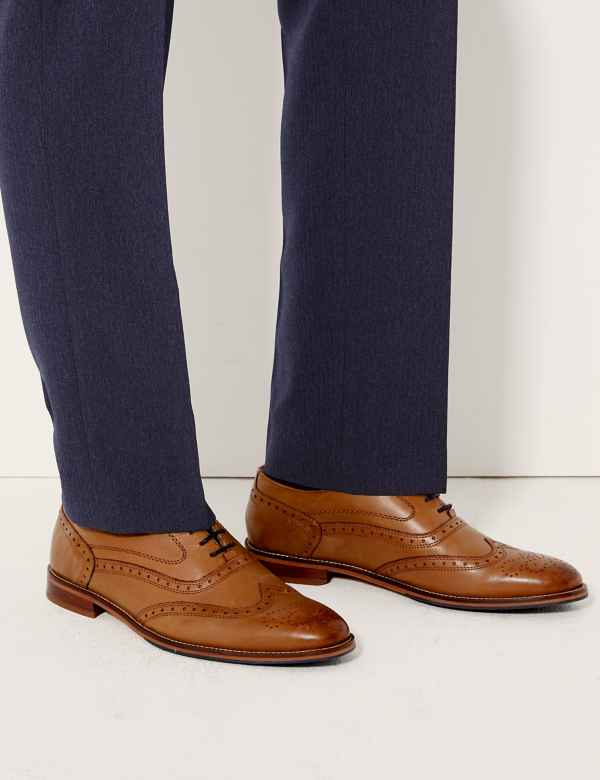 the best attitude f54c3 cc22b Leather Layered Sole Brogue Shoes