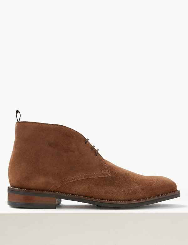 5e22eeb1b7b Suede Lace-up Chukka Boots