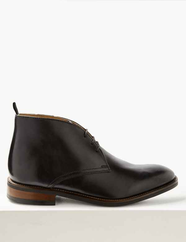d5c2e05a4d4b2 Leather Lace-up Chukka Boots