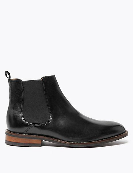 Wide Fit Leather Dainite Chelsea Boots