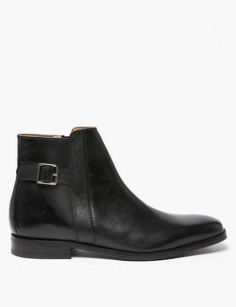 Saffiano Leather Jodhpur Boots
