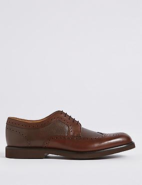 Leather Lightweight Brogue Shoes with Airflex™