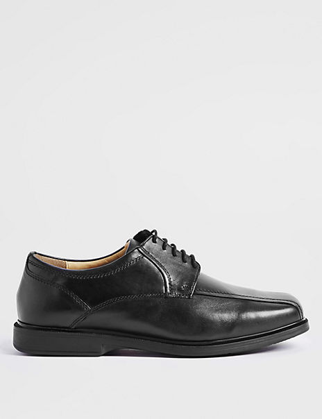 Big & Tall Leather Tramline Lace-up Shoes