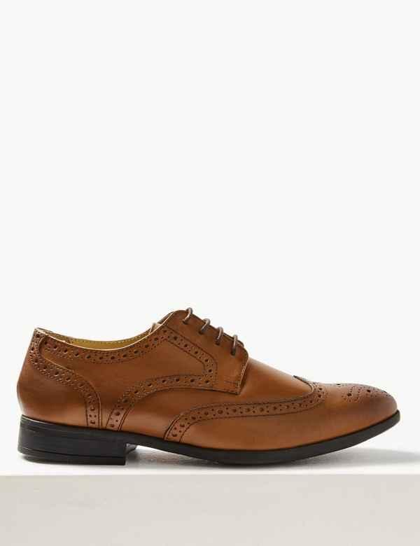 4020d7c4d Leather Brogue Shoes with Airflex™
