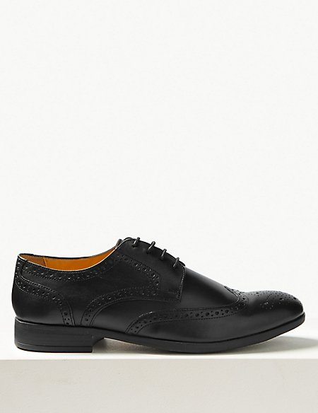 Leather Brogue Shoes with Airflex™