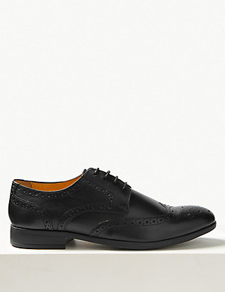Leather Brogue Shoes with Airflex™ Clothing
