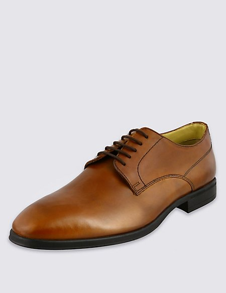 Leather Lace-up Derby Shoes with Airflex™