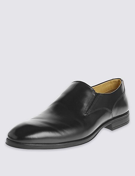 Leather Flexi Slip-On Shoes