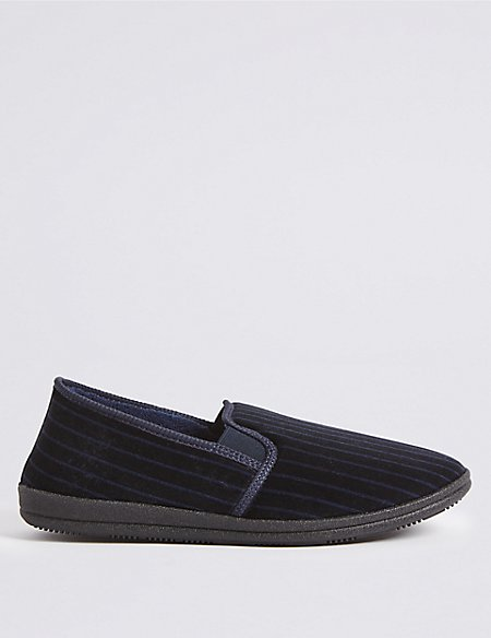 Big & Tall Striped Slippers with Freshfeet™