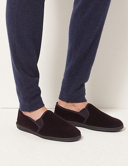 Corduroy Slippers with Freshfeet™