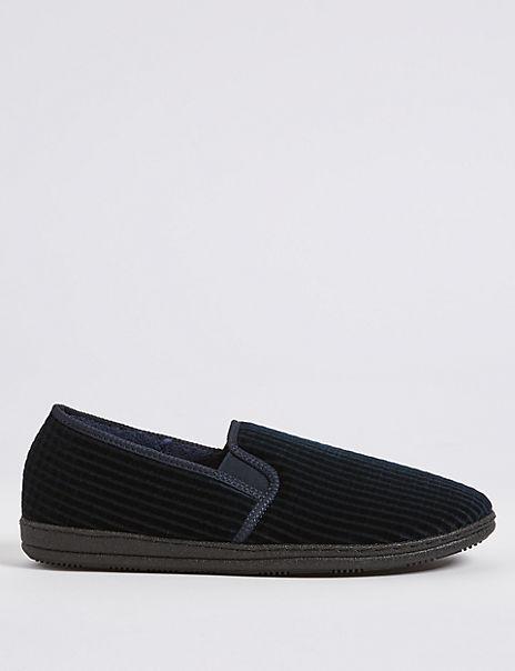 Big & Tall Corduroy Slippers with Freshfeet™